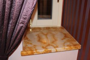 Davanzale per finestra realizzato a macchia aperta marmo giallo di castronovo